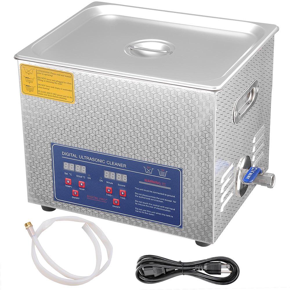 10 L Liter Stainless Steel Ultrasonic Cleaner 490W Digita...