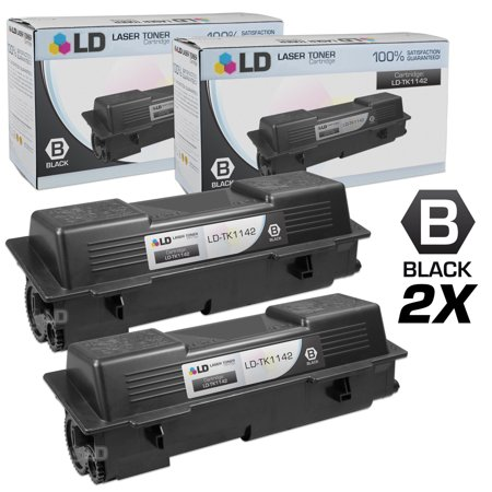 Compatible Replacements for Kyocera-Mita TK-1142 Set of 2 Black Laser Toner Cartridges