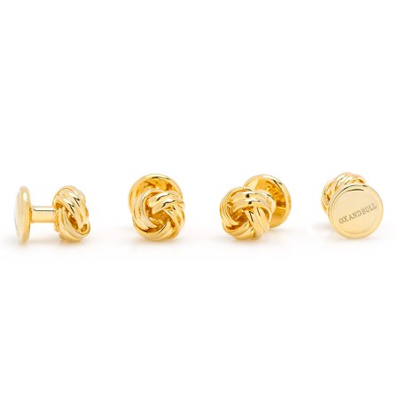 (Gold Plated Love Knot Tuxedo Studs)