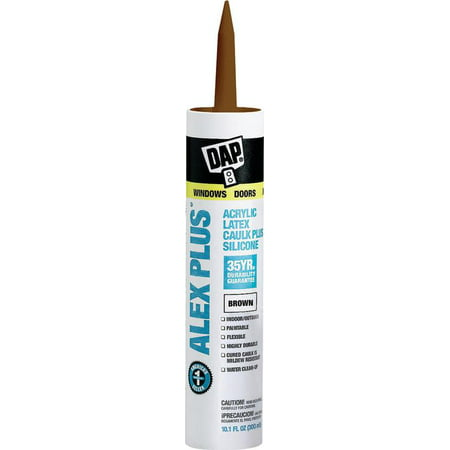 - Dap 18120 11 Oz Brown Alex Plus® Acrylic Latex Caulk With Silicone