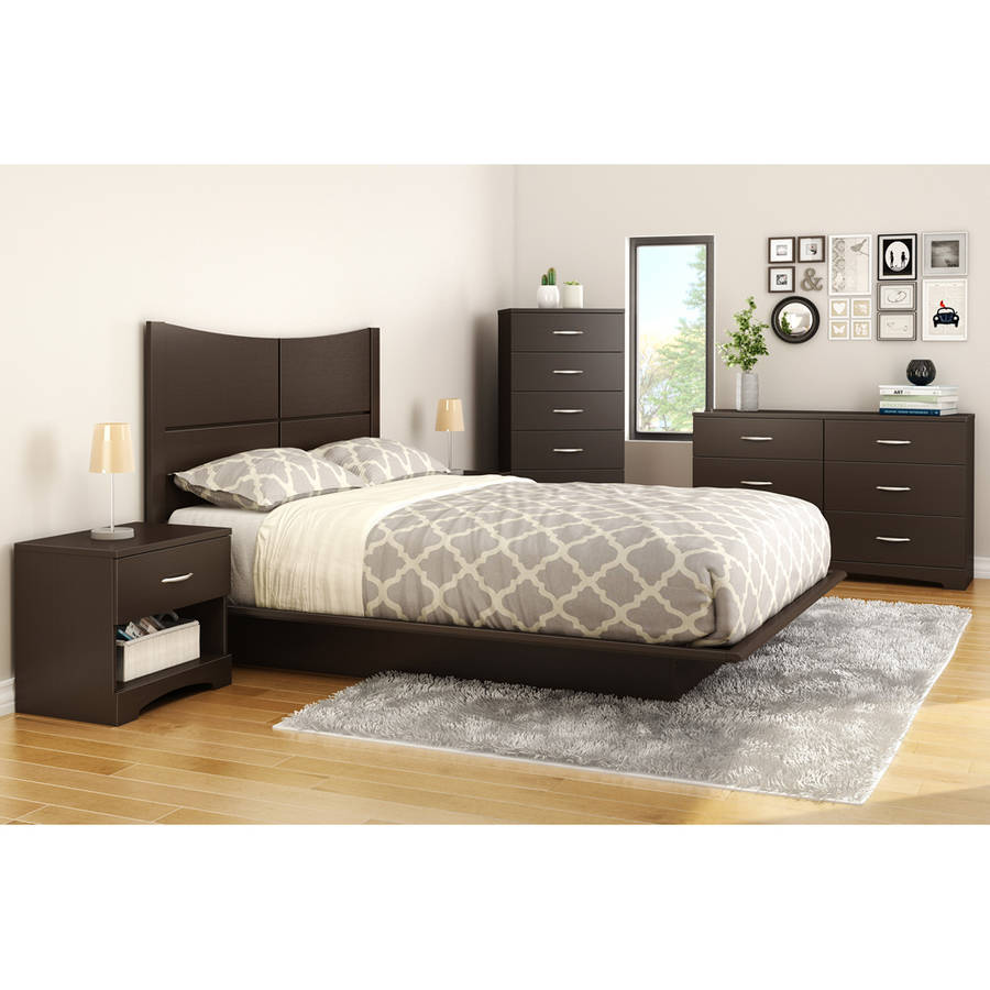 6 drawer double dresser black gray brown white bedroom for White bedroom set with storage