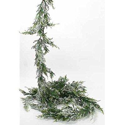Factory Direct Crafts (factory direct craft artificial vinyl cedar garland with faux snow for holiday, christmas, ski and lodge)