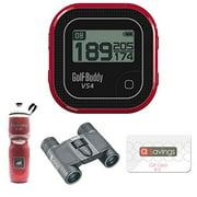 Golf Buddy GB7-VS4 Golf GPS (Black/Red) + Bushnell 8x21 Powerview Binocular (Black) + Polar WB2202 Water Bottle 24oz Red + $15 aSavings Gift Card