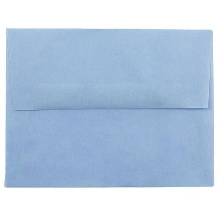 JAM Paper A2 Envelopes, 4 3/8 x 5 3/4, Surf Baby Blue Translucent Vellum, 250/pack Blue Translucent Vellum Envelope
