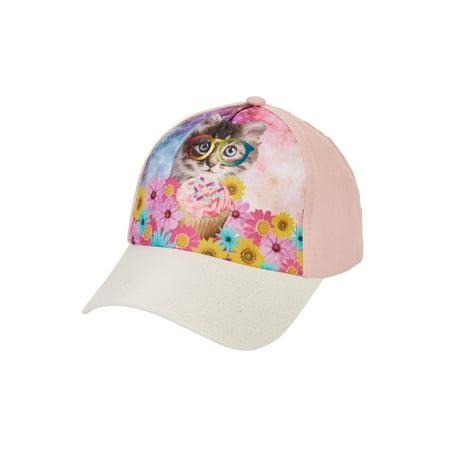 Kitty Baseball (Kitty Cupcake Twill Baseball)
