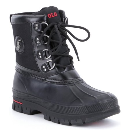 1dfdc4aecd3 POLO Ralph Lauren - POLO Ralph Lauren Lowen Waterproof Duck Toe Rain Boot  Shoe - Mens - Walmart.com