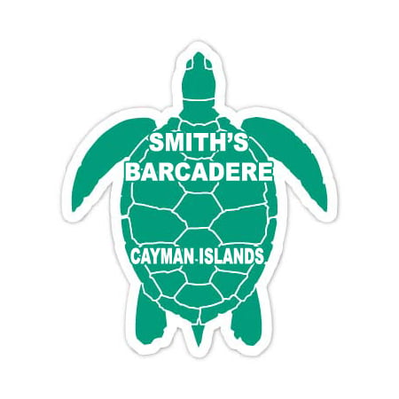 Smith s Barcadere Cayman Islands 4 Green Turtle Shape Decal Sticker