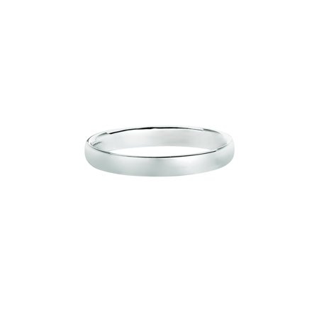 14K White Gold Men's Women's 3MM Comfort Fit Wedding Band Wedding Ring Size