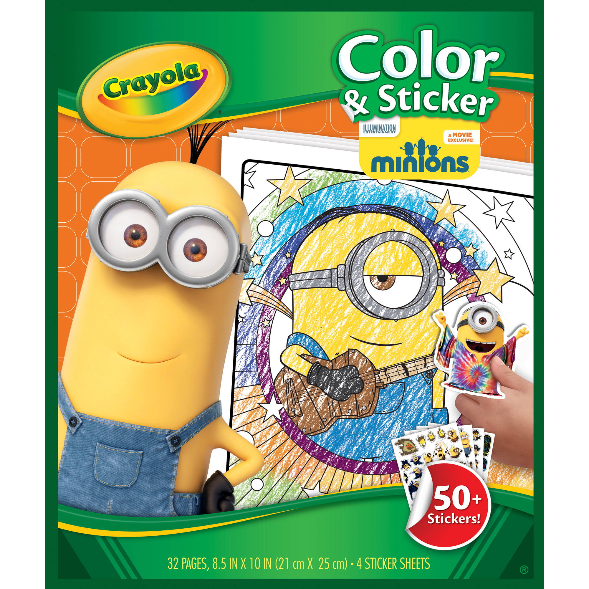 crayola color and sticker pages minions walmartcom - Color Alive Coloring Pages Minions