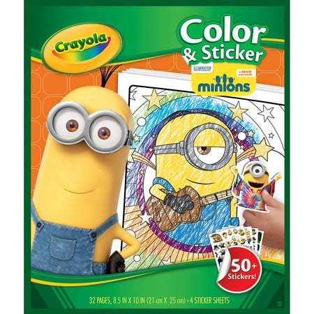 Crayola Color and Sticker Pages, Minions - Walmart.com