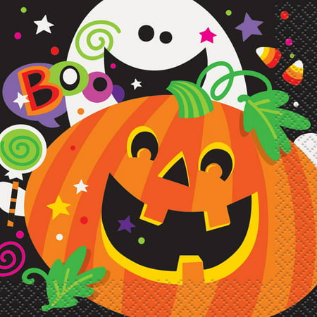 Happy Halloween Paper Beverage Napkins, 5 in, 16ct