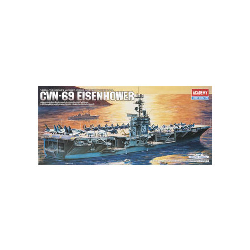Image of 1440 1/800 USS Eisenhower CVN69 Multi-Colored