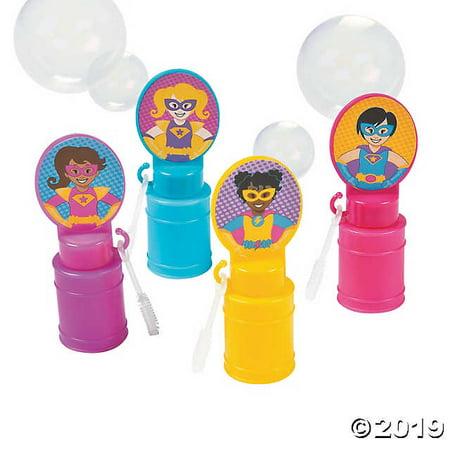 Superhero Girl Bubble Bottles - Superhero Word Bubbles
