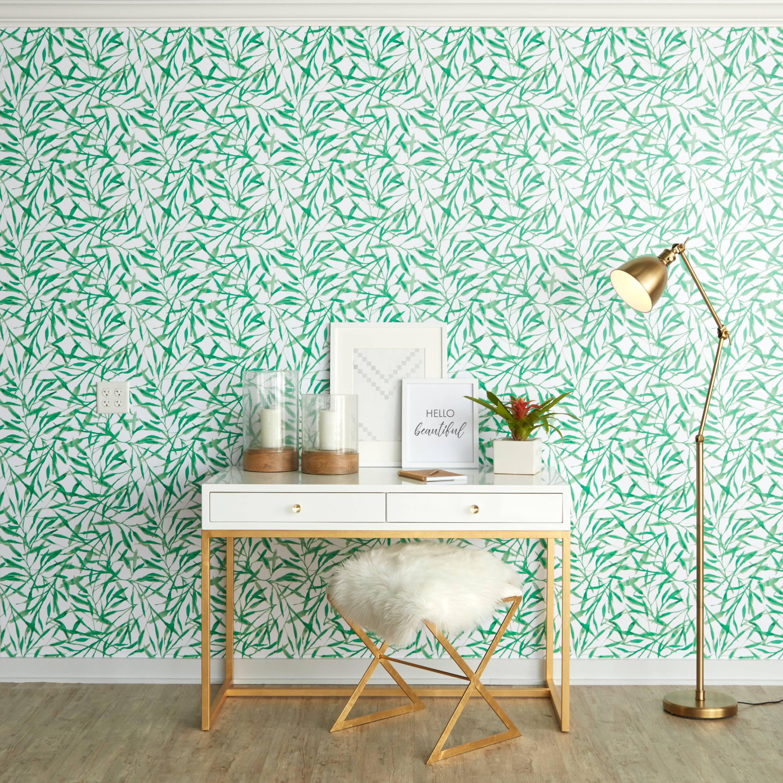 Repeel Watercolor Leaves Peel and Stick Removable Wallpaper - Walmart.com