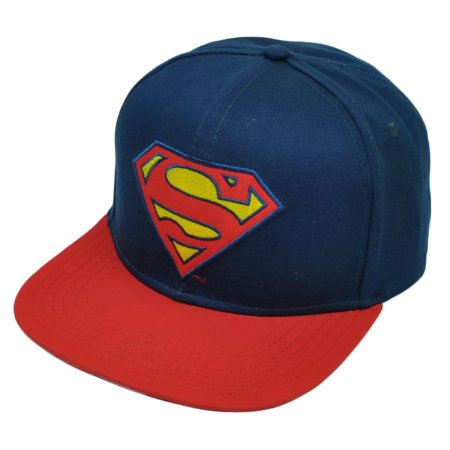4bc053ffb0860 Superman Snapback Flat Bill Blue Red DC Comics Super Hero Carton Hat Cap  Books - Walmart.com