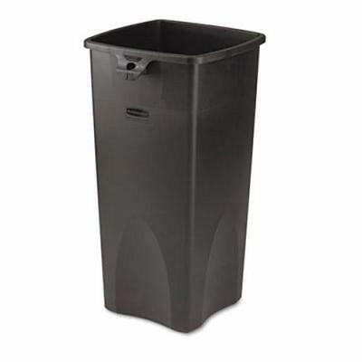 Rubbermaid 356988 Untouchable 23 Gallon Square Trash Can, Black ()