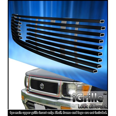 4wd Precision Grilles Grills (Fits 1992-1994 Toyota Truck 4WD Black Stainless Steel Billet Grille Insert )