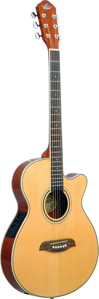 Oscar Schmidt Folk Style Acoustic Electric Guitar, Spruce Top, 3 Band EQ, OG8CEN by Oscar Schmidt