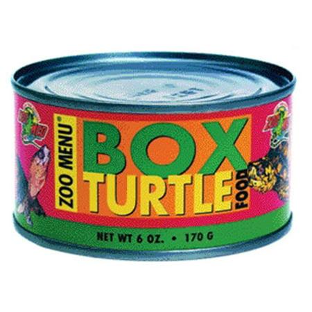Zoo Med Box Turtle Food Canned Food, 6 oz (Natural Box Turtle Food)