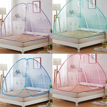 (Foldable Mosquito Netting Pop-Up Mosquito Net Tent for Beds Anti Mosquito Bites Folding Design with Net Bottom for Babys Adults Trip)