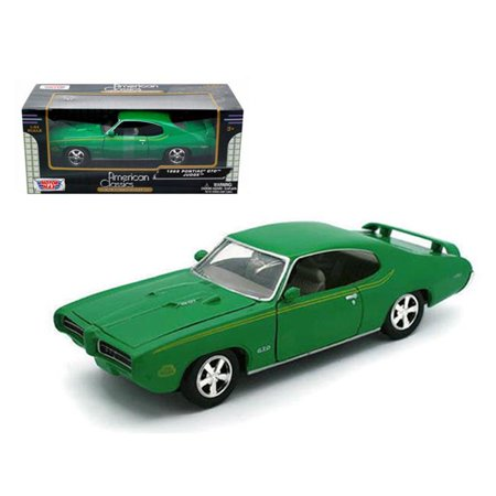 Motormax 73242grn 1 by 24 1969 Pontiac GTO Judge Diecast Model Car - Green