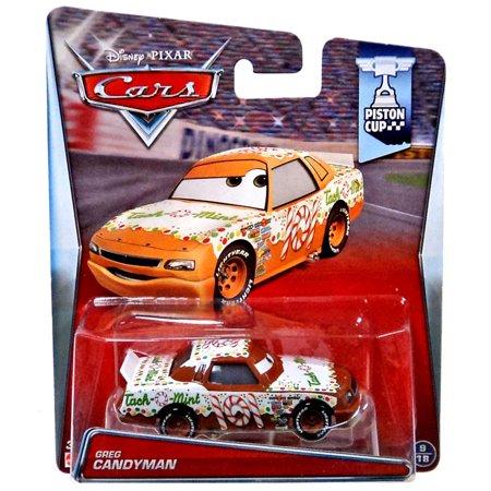 Disney Pixar Cars Movie Greg Candyman Piston Cup Die-Cast Toy Car
