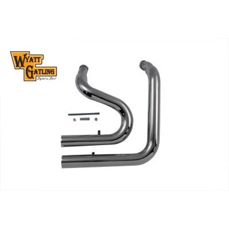 Wyatt Gatling Exhaust Drag Pipe Set Stack Type,for Harley Davidson,by V-Twin