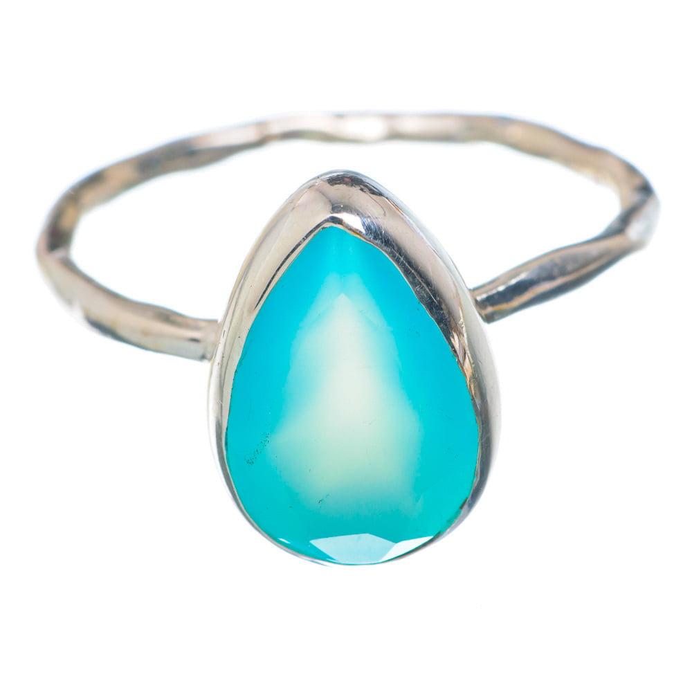 Ana Silver Co Aqua Chalcedony Ring Size 9 (925 Sterling Silver) Handmade Jewelry RING897039 by Ana Silver Co.