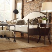 iNSPIRE Q Andover Upholstered Curved Top Crry Brown Metal Daybed by  Classic