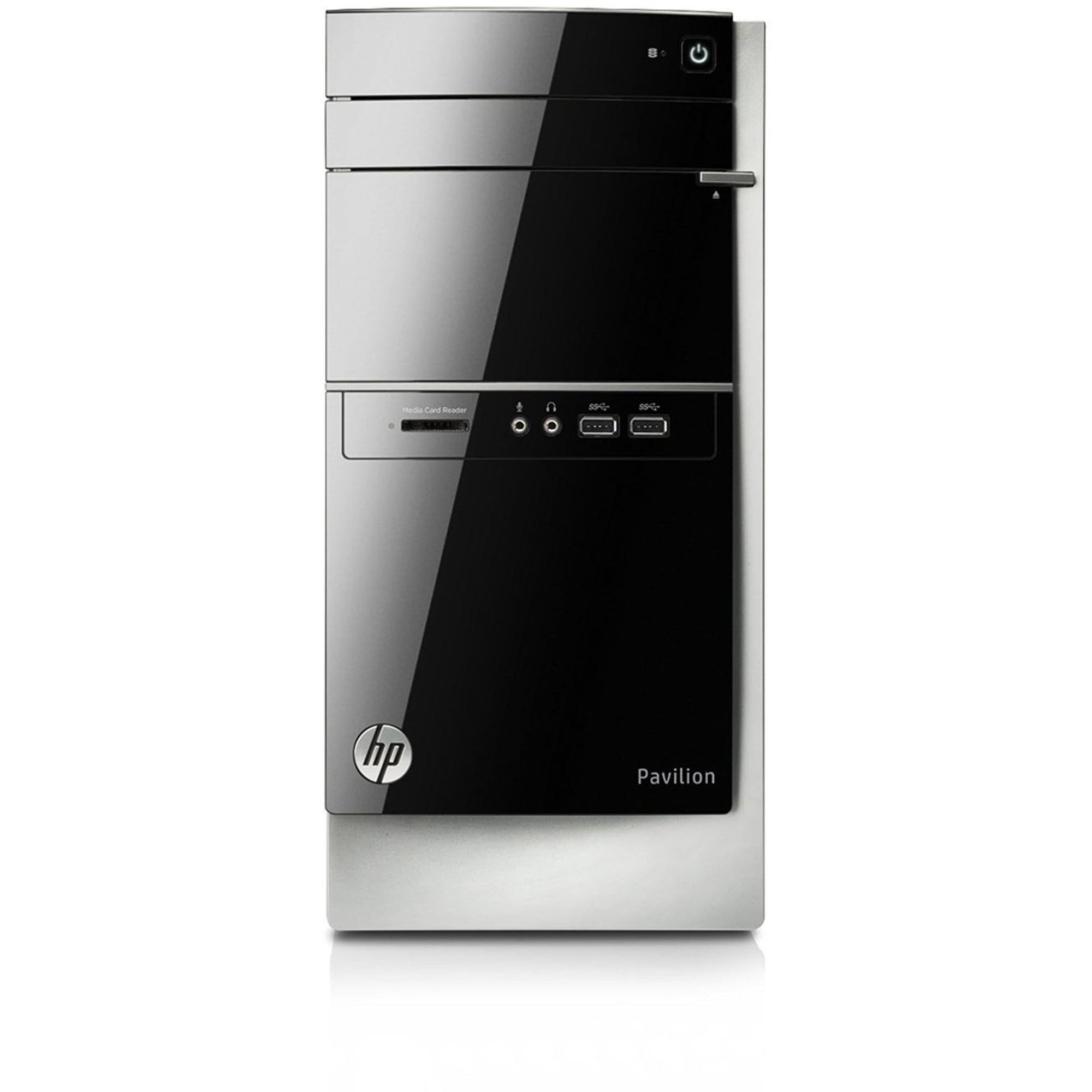 Refurbished HP Gray Pavilion Desktop PC with AMD A8 6410 Quad Core