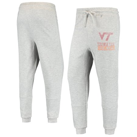 Men's Heathered Gray Virginia Tech Hokies Curb Cuffed Tri-Blend Pants Run Omni Tech Pant