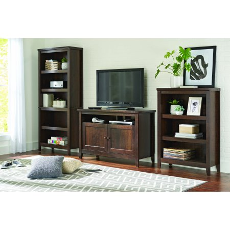 Better Homes and Gardens Parker TV Stand and 3 Shelf Bookcase Home Entertainment Set