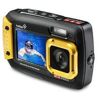 Ivation 20MP Underwater Waterproof Shockproof Digital Camera, Dual LCD Display (Yellow)