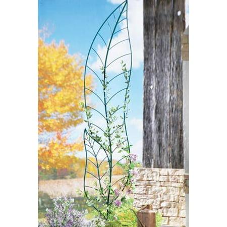 Leaf Trellis Garden Decor Yard Stake, Green (Yard Decor Ideas)