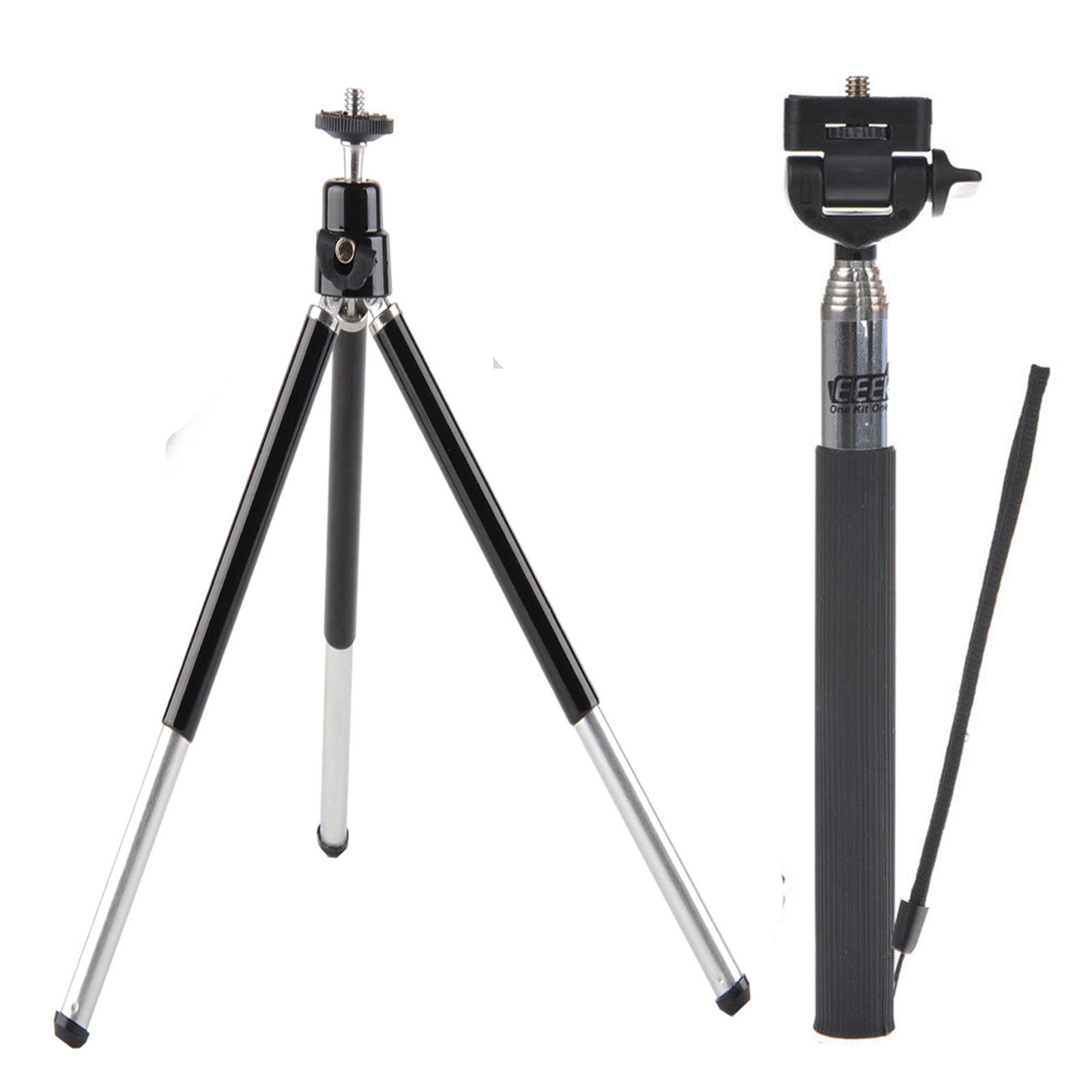 Selfie Stick Monopod,Mini Tripod for Ricoh Theta S SC/Ricoh Theta M15 360 Degree Camera,EEEKit 2in1 Kit