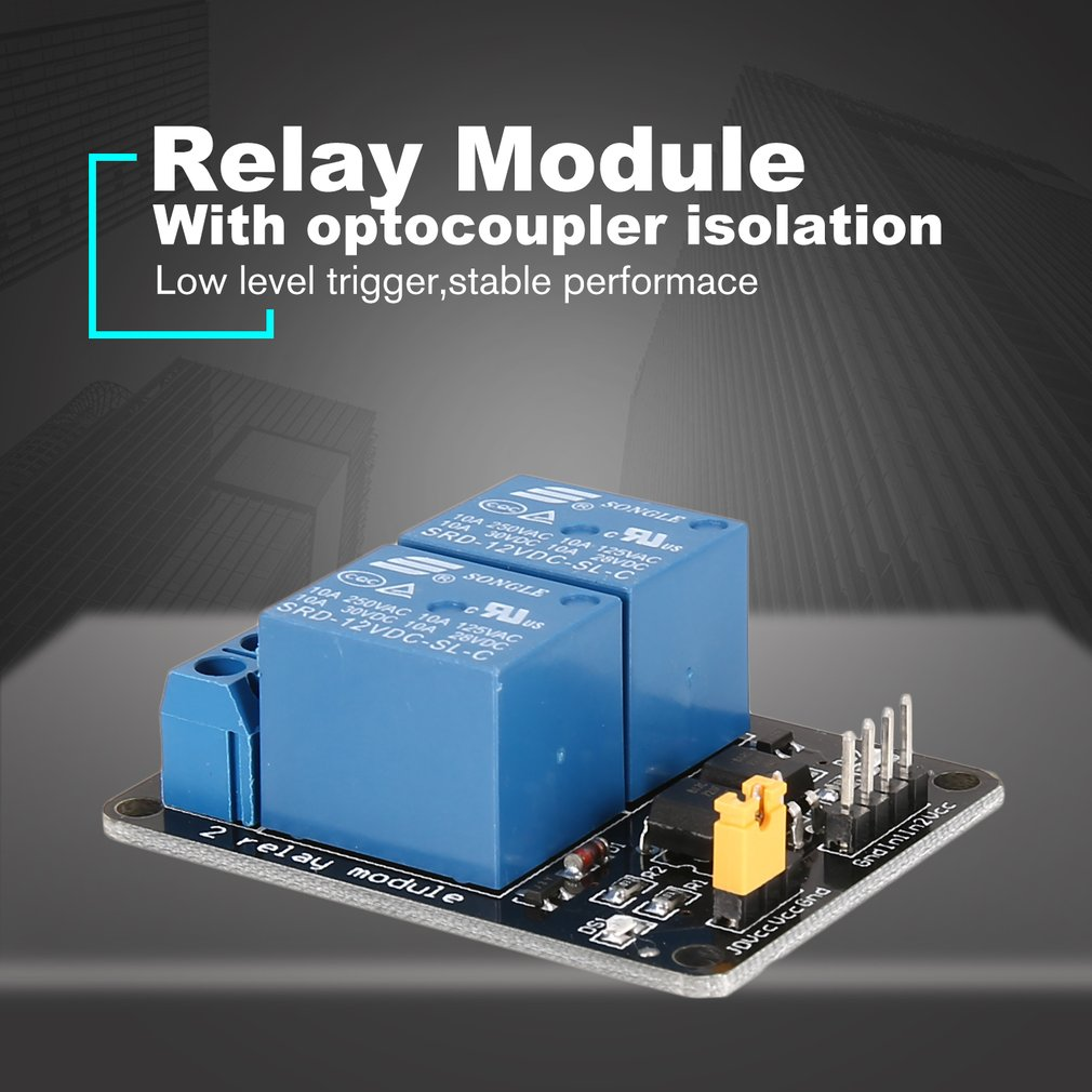 10 Pack 1-Channel Relay Module With Optocoupler Low Level Trigger for Arduino