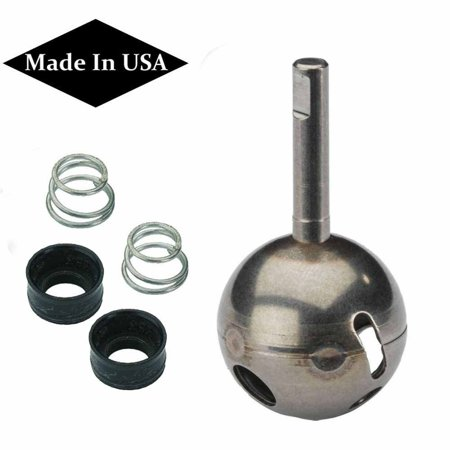 Replacement For Delta RP70 Stainless Ball Stem + RP4993 Seats & Springs, Fits Single Handle Lever Delta Faucets No.'s 100, 101, 111, 175, 200,.., By WholesalePlumbing