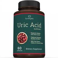 Premium Uric Acid Support Supplement  Uric Acid Formula & Urinary Tract Support  Includes Tart Cherry, Chanca Piedra, Celery Extract & Cranberry  60 Veggie Capsules