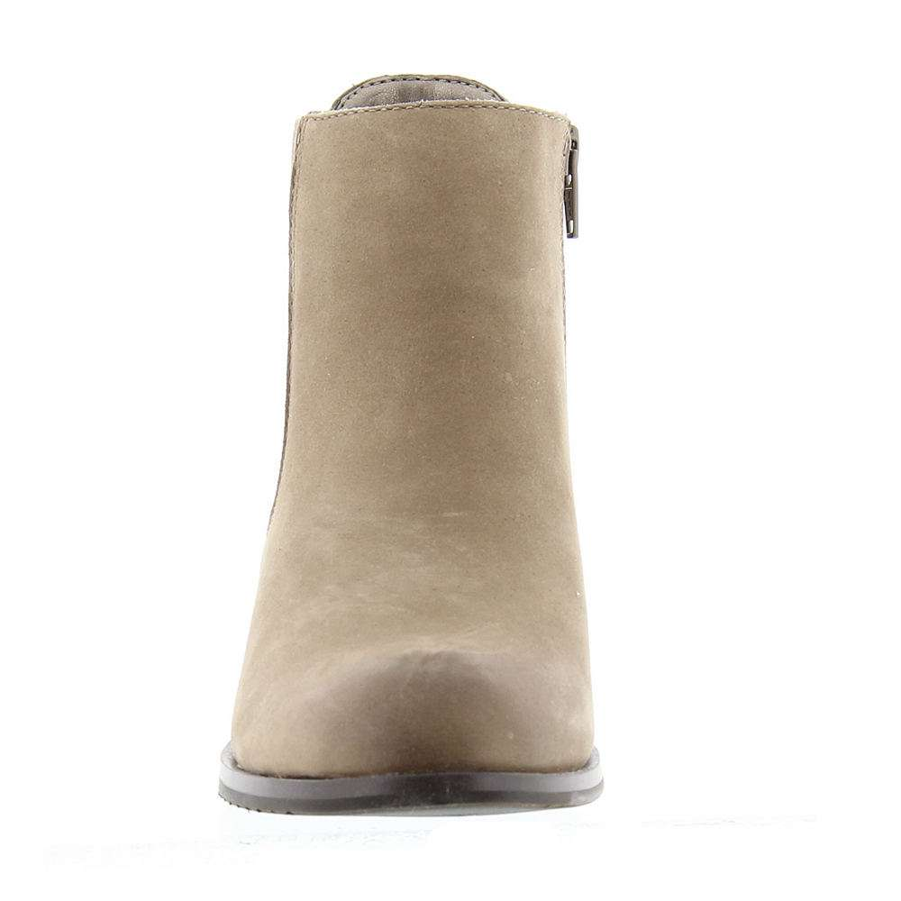 ARRAY Womens Logan Leather Round Toe Ankle Chelsea Boots Taupe Size 6.0