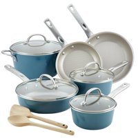 Ayesha Curry 12 Piece Porcelain Enamel Nonstick Non-Stick Cookware Set (Set of 12)