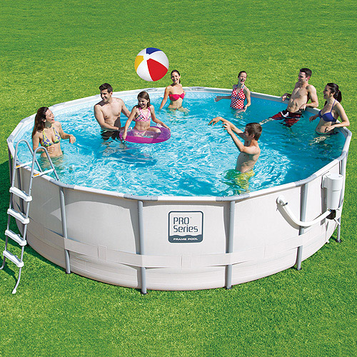 """ProSeries 16' X 48"""" Metal Frame Swimming Pool with Deluxe Kit"""