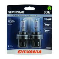 Sylvania 9007 SilverStar Auto Halogen Headlight Bulb, Pack of 2.