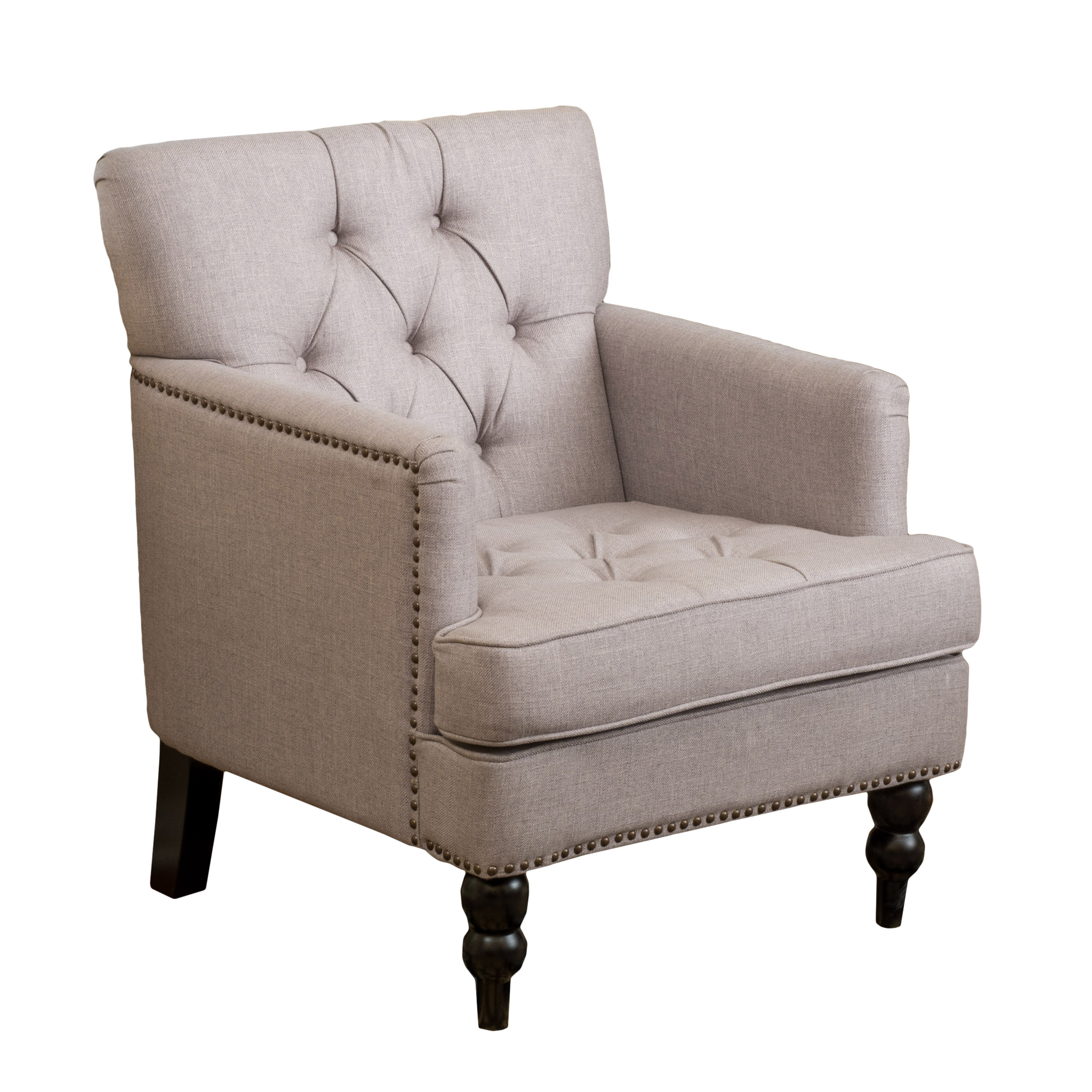 Granada Button Tufted Club Chair With Stud Accents, Multiple Colors    Walmart.com