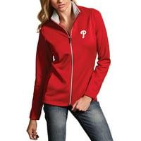Philadelphia Phillies Antigua Women's Leader Full-Zip Jacket - Red