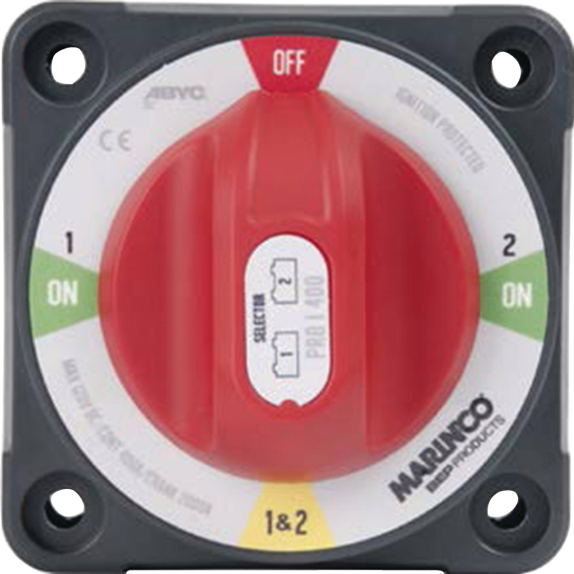 Marinco 771-SFD Pro Installer Battery Selector Switch with Field Disconnect (1-2-Both-Off)