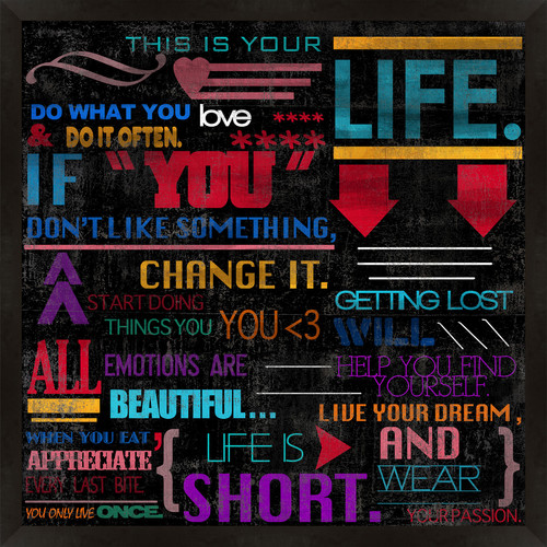PTM Images This is Your Life Framed Textual Art