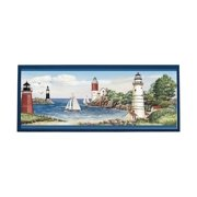 Lighthouse Sailboat Plaque