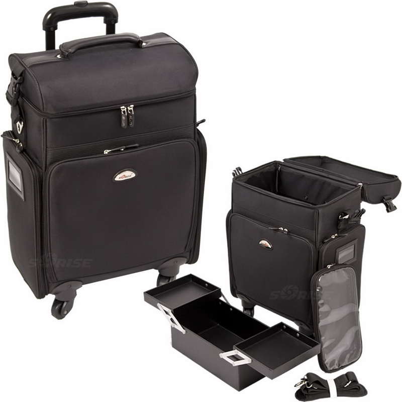 Sunrise C6017NLAB Black Soft Sided Rolling Case - C6017