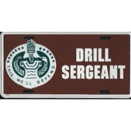 Army Drill Sergeant License Plate