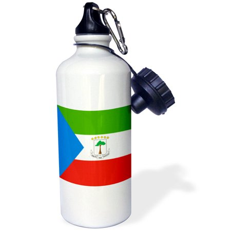 3dRose Flag of Equatorial Guinea - Equatoguinean - Equatorial Guinean - African world country flags Africa, Sports Water Bottle, 21oz
